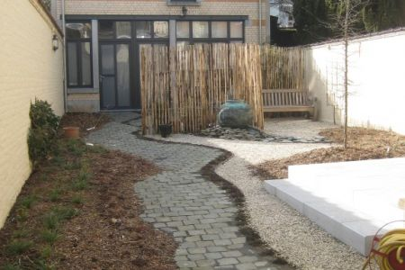 Jardin privé Bruxellois, concept de réutilisation sur place et transformation du jardin (1).JPG