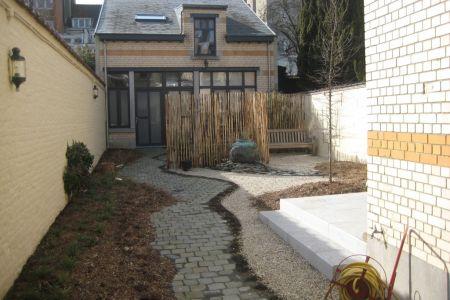 Jardin privé Bruxellois, concept de réutilisation sur place et transformation du jardin (3).JPG